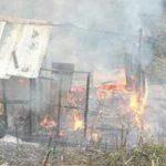 પોરબંદરની નજીક ઝુપડામાં આગ : ૩ બાળકો ભડથું થયા