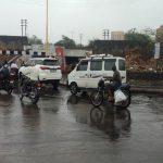 રાજકોટ શહેરમાં સતત બીજા દિવસે ધીમી ધારે વરસાદ