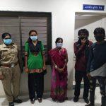 રાજકોટ શહેર કુવાડાવ રોડ પો.સ્ટે.ની દુર્ગાશક્તિ ટિમ દ્વારા માનસિક અસ્વસ્થ મહિલાને તેના પતિને સોપવામાં આવેલ છે