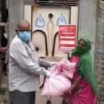 રાજકોટ શહેર આંબેડકરનગર કોરોનટાઈન થયેલ લોકોને રાશન કીટ વિતરણ કરવામાં આવ્યૂ