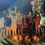 રાજકોટ શહેર અખિલ ભારતીય વિદ્યાર્થી પરિષદ દ્વારા રામ જન્મ ભૂમિ પૂજનના પાવન અવસરે ફટાકડા ફોડી ઉત્સવ મનાવવામાં આવેલ છે.