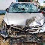 દિયોદર ના કુવાતા પાસે બાઇક પર સવાર એક જ પરિવાર ના ત્રણ સભ્યો ને ટક્કર મારનાર ઇનોવા ગાડી ચાલક સામે ફરિયાદ નોંધાઈ